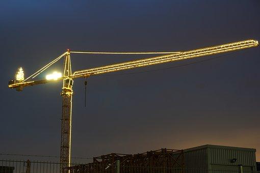 Crane, Construction, Driver's Cab, Baukran, Site