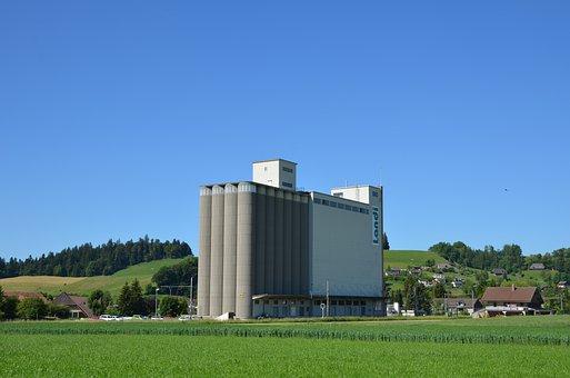 Stockpile, Silo, Stock, Warehouse, Mittelland