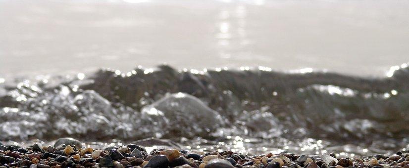 Water, Sea, Recede, Receding, Stone, Stones, Wave