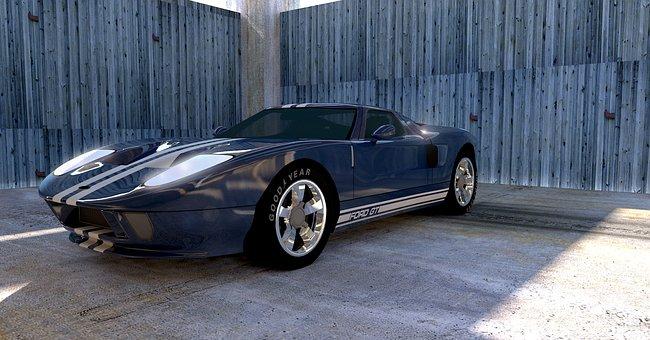 Gt Ford, Sport, Autos, Automobile, Contour, Metallic