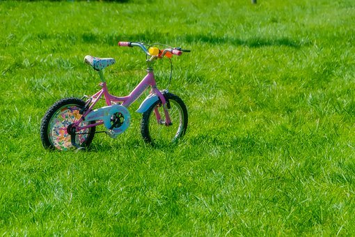 Bicycle, Child, Baby, Kids Bike, Pink Bike, Background