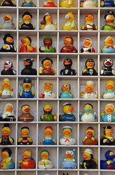 Duck, Rubber Duck, Bath, Bathe, Float, Water, Toys