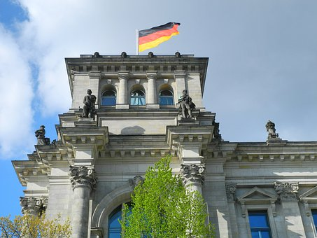 Reichstag, Berlin, Government District, German Flag