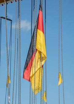 Flag, Germany, Black, Red, Gold, Carousel