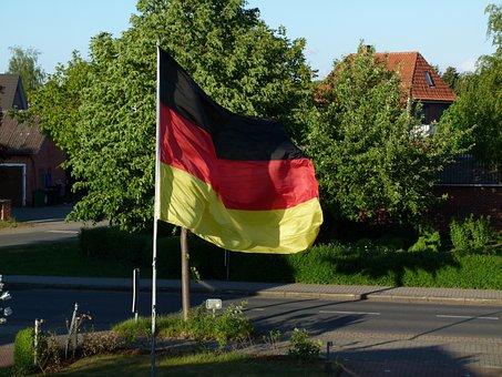 Germany, Flag, Black Red Gold, German Flag, Flutter