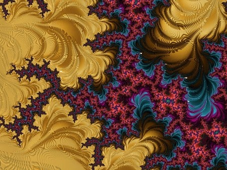 Fractal, Colors, Structure, Black, Glossy, Pattern