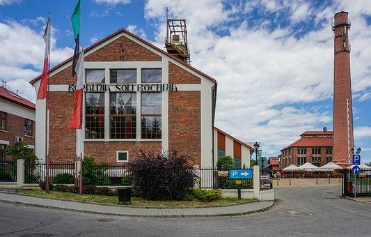 Salt Mine, Building, Bochnia, Poland, Monument, Chimney