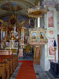 Church, Pulpit, Religious, Building, Christianity
