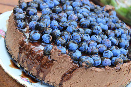 Cheesecake, American, Bilberry, Cake, Blueberries