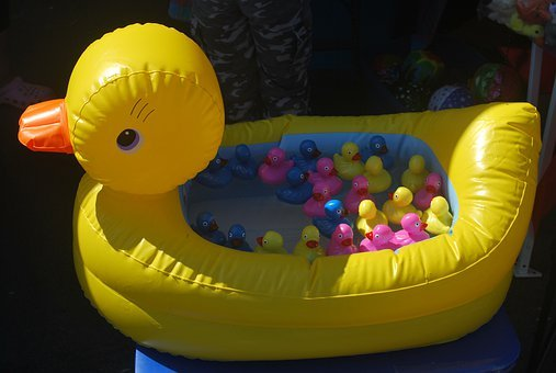 Duck, Toy, Water, Child, Rubber, Kid, Fun, Play, Game