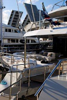 Yachts, Boats, Deck, Teak, Rail, Bridge