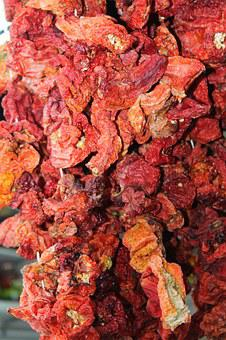 Tomatoes, Dried, Dried Tomatoes, Fruit, Vegetables, Eat