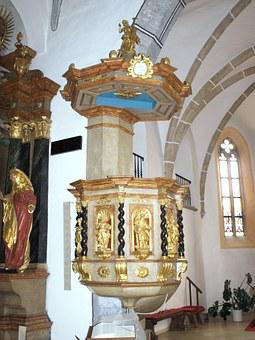 Euratsfeld, Hl Johannes, Pulpit, Interior, Decorated