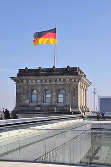 Germany, Flag, Flutter, German, Black Red Gold, Home