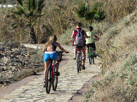 Cycling, Family, Bicycle, Activity, Fun, Leisure
