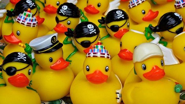 Duck, Rubber Duck, Toys, Fun, Toy Duck, Fun Bathing