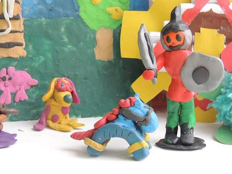 Game, Kids, Creativity, Plastiltn, Action Figures