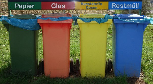 Waste Separation, Mülltonnen, Recycling, Garbage