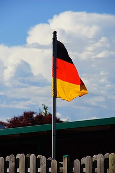 Germany, Flag, Fabric, Flagpole, Black Red Gold