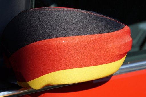 Fanartikel, Germany, Rear Mirror, Flag, World Cup