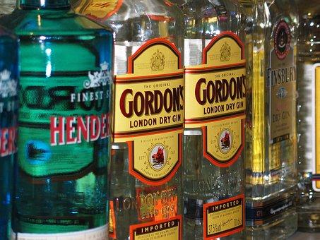 Gin, Alcohol, Shop, Alcoholic, Glass Bottles, Spirit