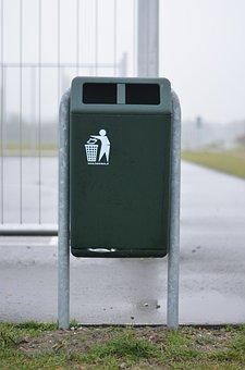 Recycle Bin, Green, Industrial