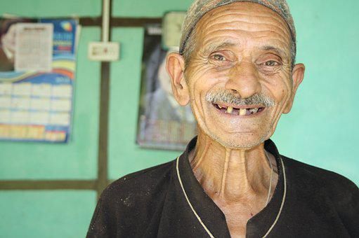 Happy, Smile, Old Man, Portrait, People, Smiling