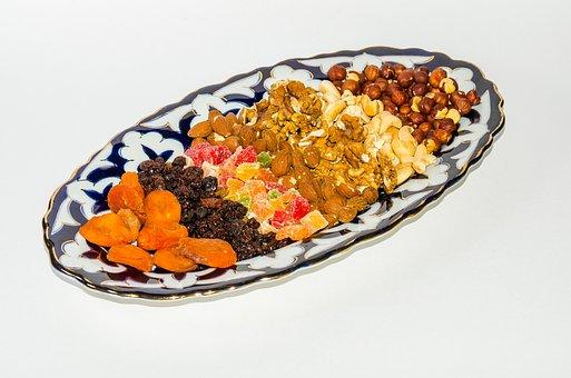 Nuts, Dried Fruits, Raisins, Peanuts, Hazelnut