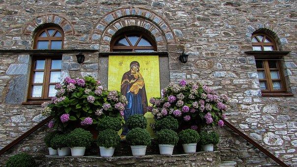 Monastery, Church, Icon, Panagia, Virgin Mary