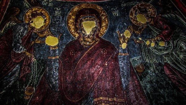 Cyprus, Ayios Sozomenos, Iconography, Vandalized