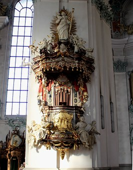 Pulpit, Cathedral, Interior, Sacral, Ornaments