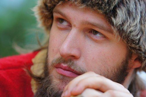 Man, Portrait, Costume, Head, Person, Look, Male, Beard