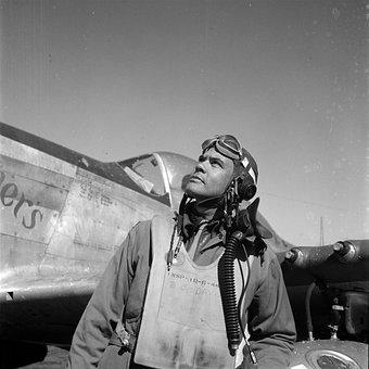 Aviator, Man, Airplane, Vintage, Retro, Old Times