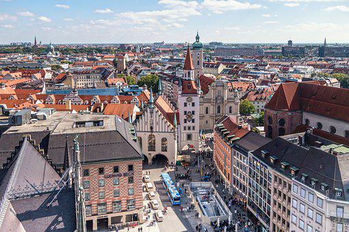 Munich, Marienplatz, Town Hall, Virgin Mary