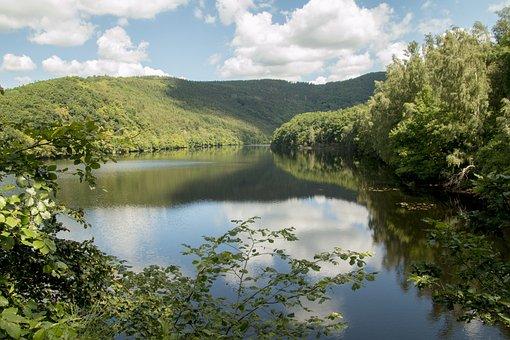 Lake, Forest, Eifel, Germany, National Park, Hiking