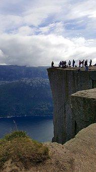 Norway, Cliff, Preikestolen, Nature, Mountain
