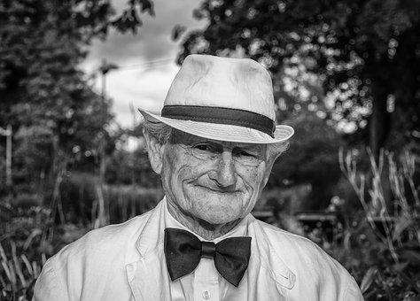 Man, Hat, Portrait, Old Man, Black And White, Face