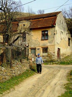 Poor, Men, Person, Street, Urban, Romania, Old, Walking
