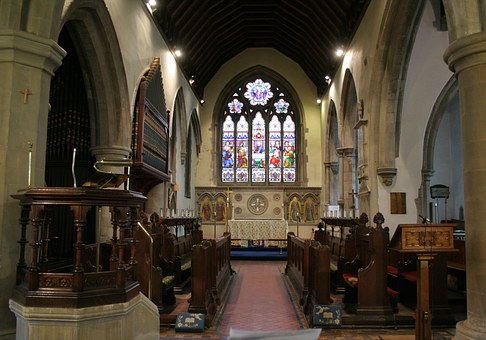 Church, Nave, Stained Glass Window, Quire, Pulpit