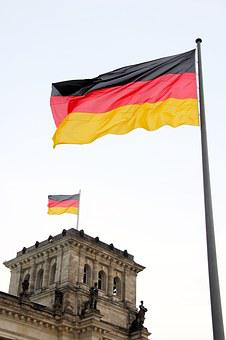 Berlin, Flag, Germany, Flutter, Reichstag, Capital