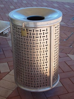 Bin, Steel, Stainless, Garbage, Rubbish, Trash, Can