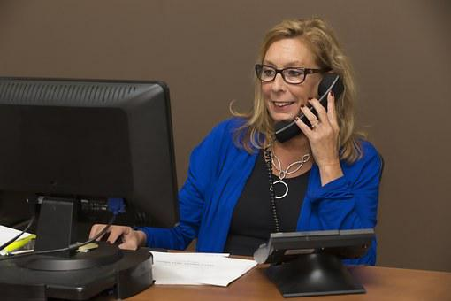 Secretary, Office, Sales, Telephony, Call, Screen