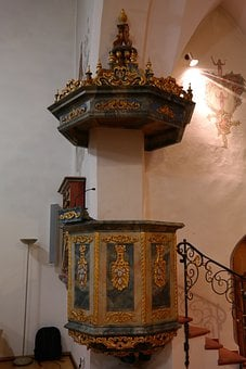 Pulpit, Sermon, Parish Church St Franziskus, Protestant