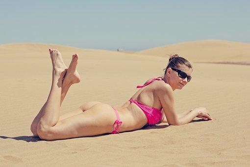 Summer, Exposure To The Sun, Bikini, Sexy, Thong