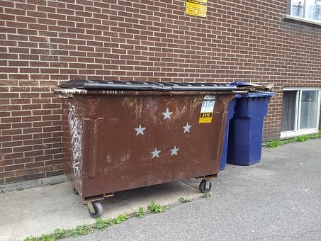 Trash, Container, Can, Recycle, Symbol, Stars, Sign