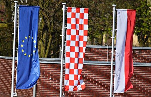 Flag, The Union, European, Poland, The Mast