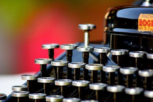 Typewriter, Vintage, Remington, Former, Retro