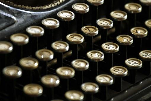Typewriter, Letters, Keyboard, Keys, Typing, Writer