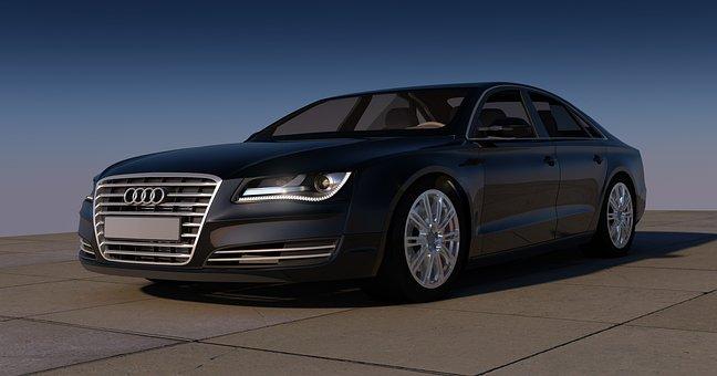 Audi, A8, Black, Sports Car, Auto, Automobile, Contour