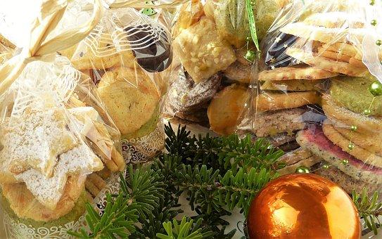 Cookie, Christmas, Gifts, Cellophane, Sachets, Bag